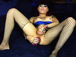 Kelly mistress Naughty Kelly toying her anus. Kelly Clare.