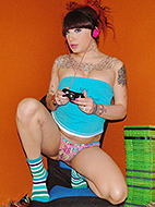 First time gamer First time gamer Kelly toying. Kelly Clare.
