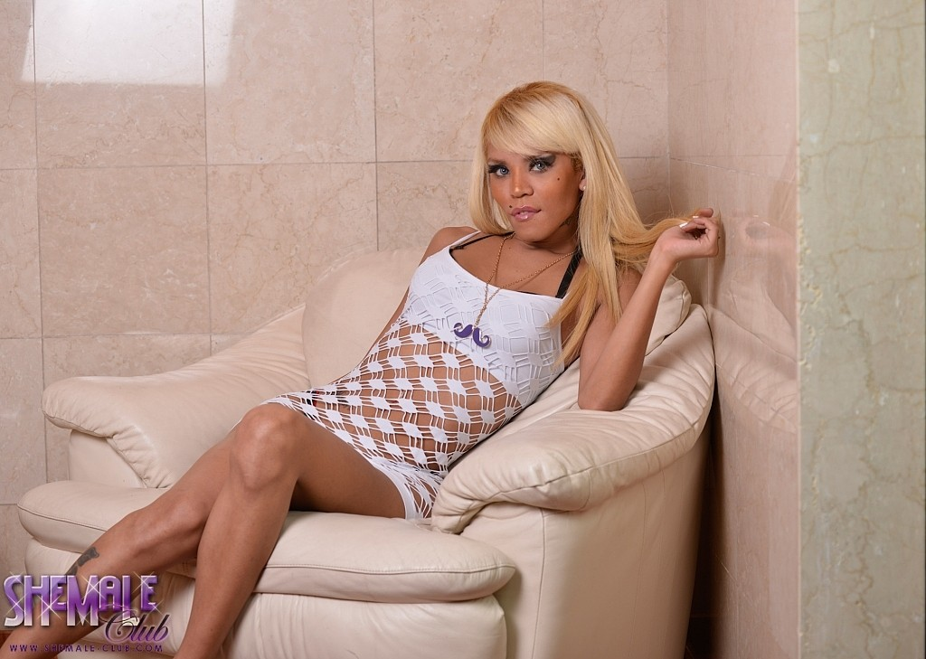 Vicky will mesmerize you in her lustful see thru dress showing